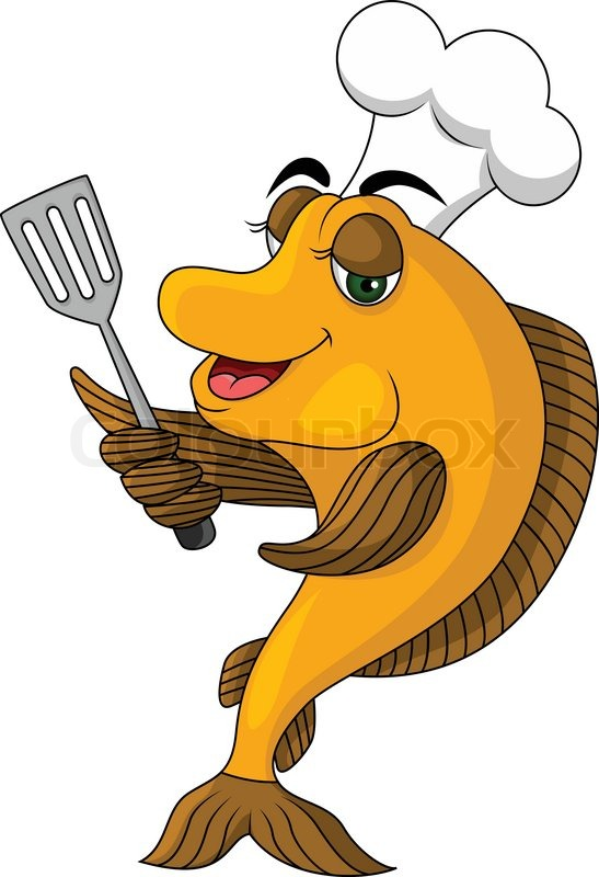 cartoon fish Vector funny cartoonok fish stock jpg