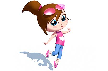 A cartoon girl free download clip art on jpg