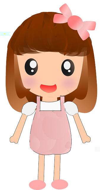 Cute cartoon girl image mart png