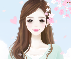 cartoon girl Images about korean cartoons on we heart it see more png