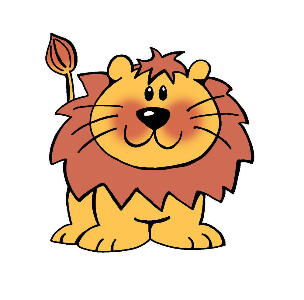 Cartoon lion free clipart jpg
