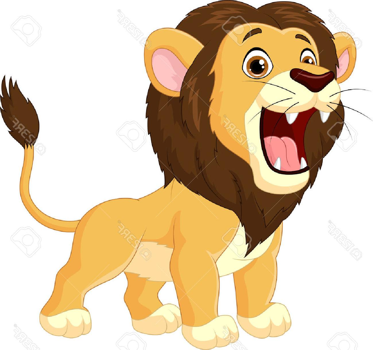 Cartoon lion roaring stock vector drawing images jpg