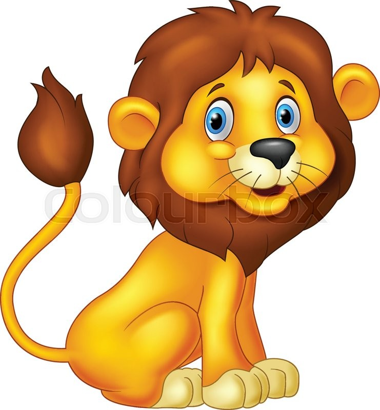 Cartoon lion sitting stock vector lour jpg