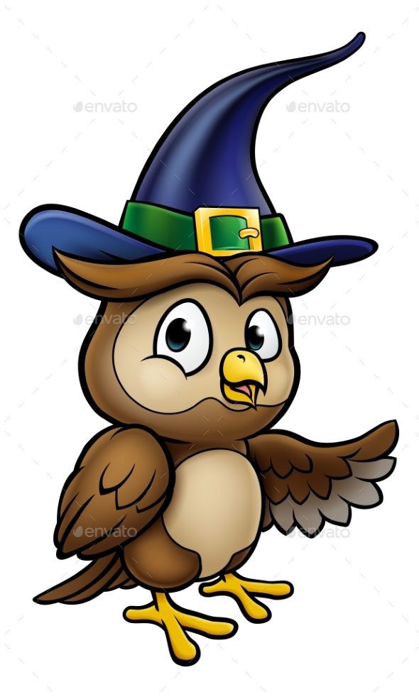 Cartoon owl character by krisdog graphicriver jpg