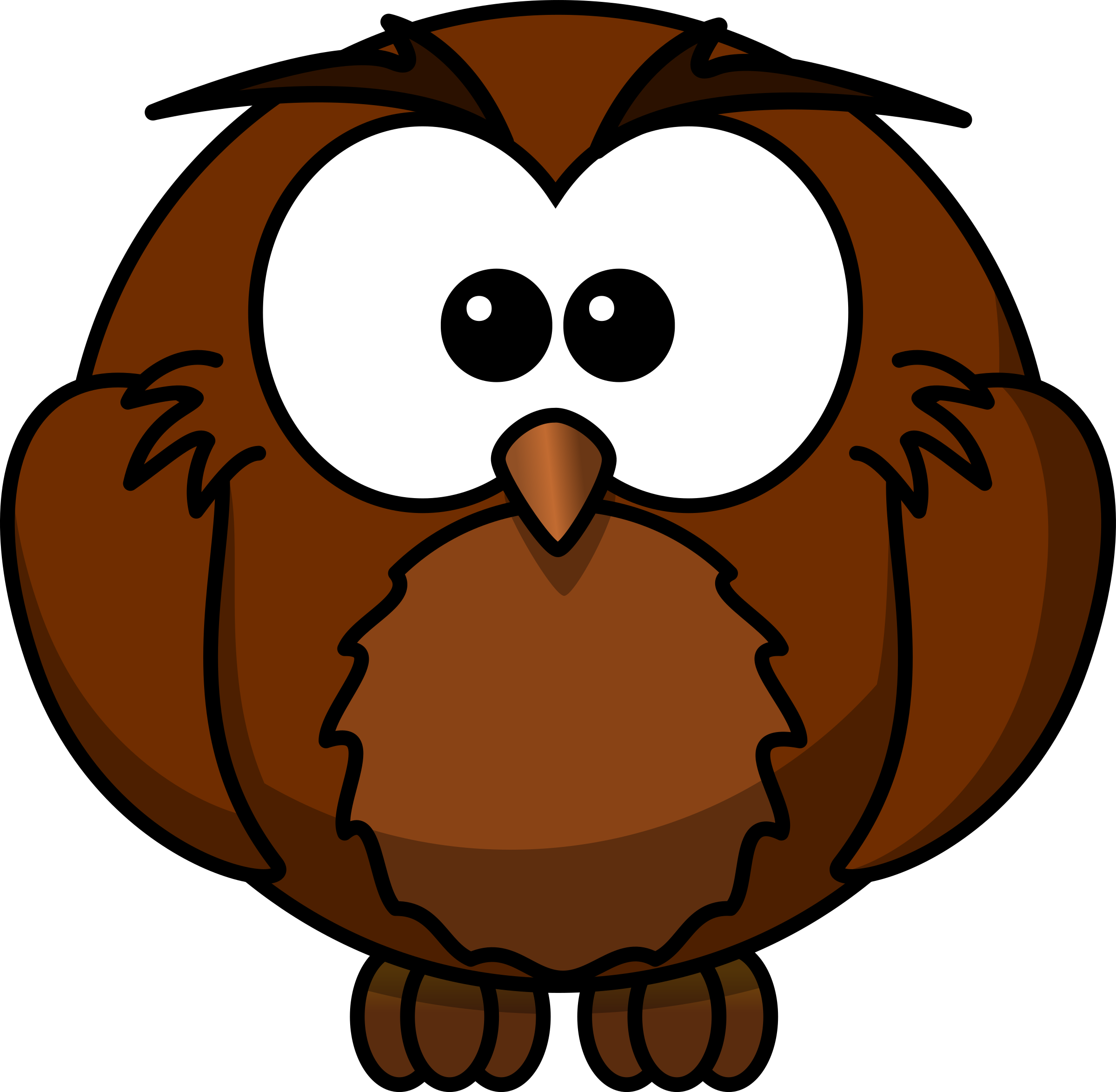 Clipart wise cartoon owl who has sat under a mango tree for many png