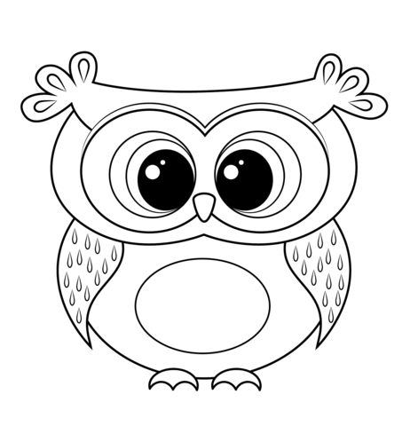 Cartoon owlloring page free printableloring pages png