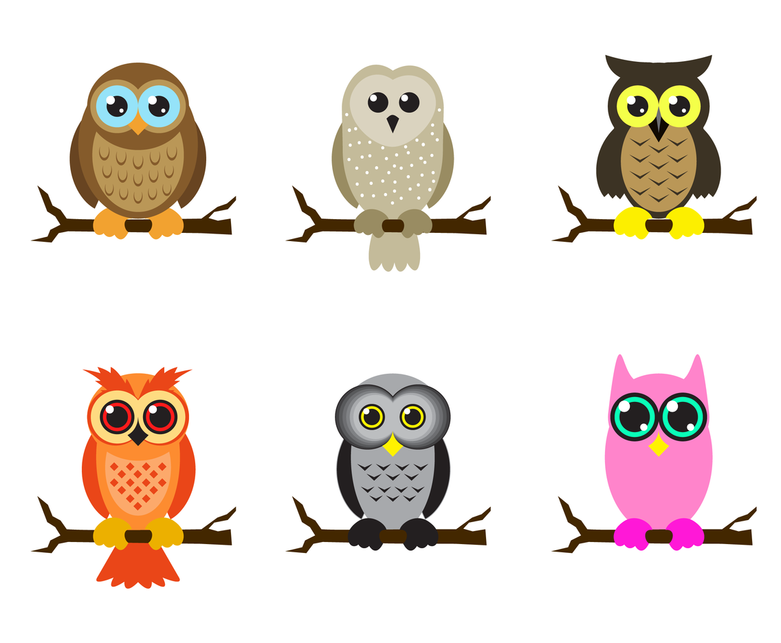 Free cartoon owl vector art  png