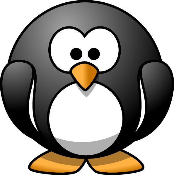 Cartoon penguin clip art at vector clip art png