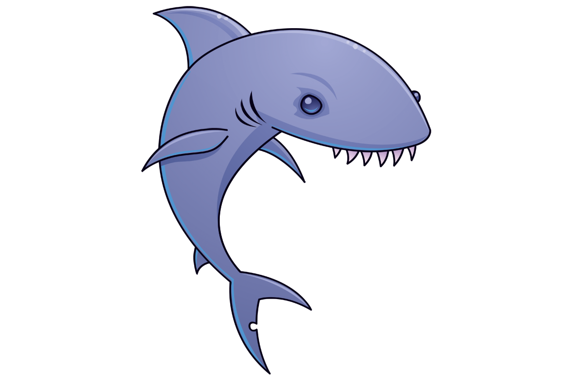 Sharky cartoon shark by fizzgig png