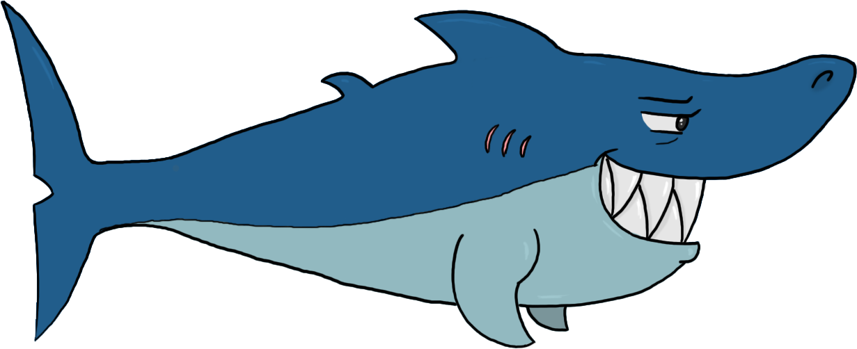Cartoon shark by pugwizer on deviantart png