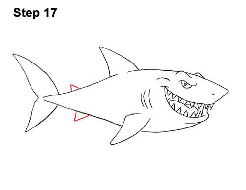 cartoon shark How to draw a shark cartoon jpg 2