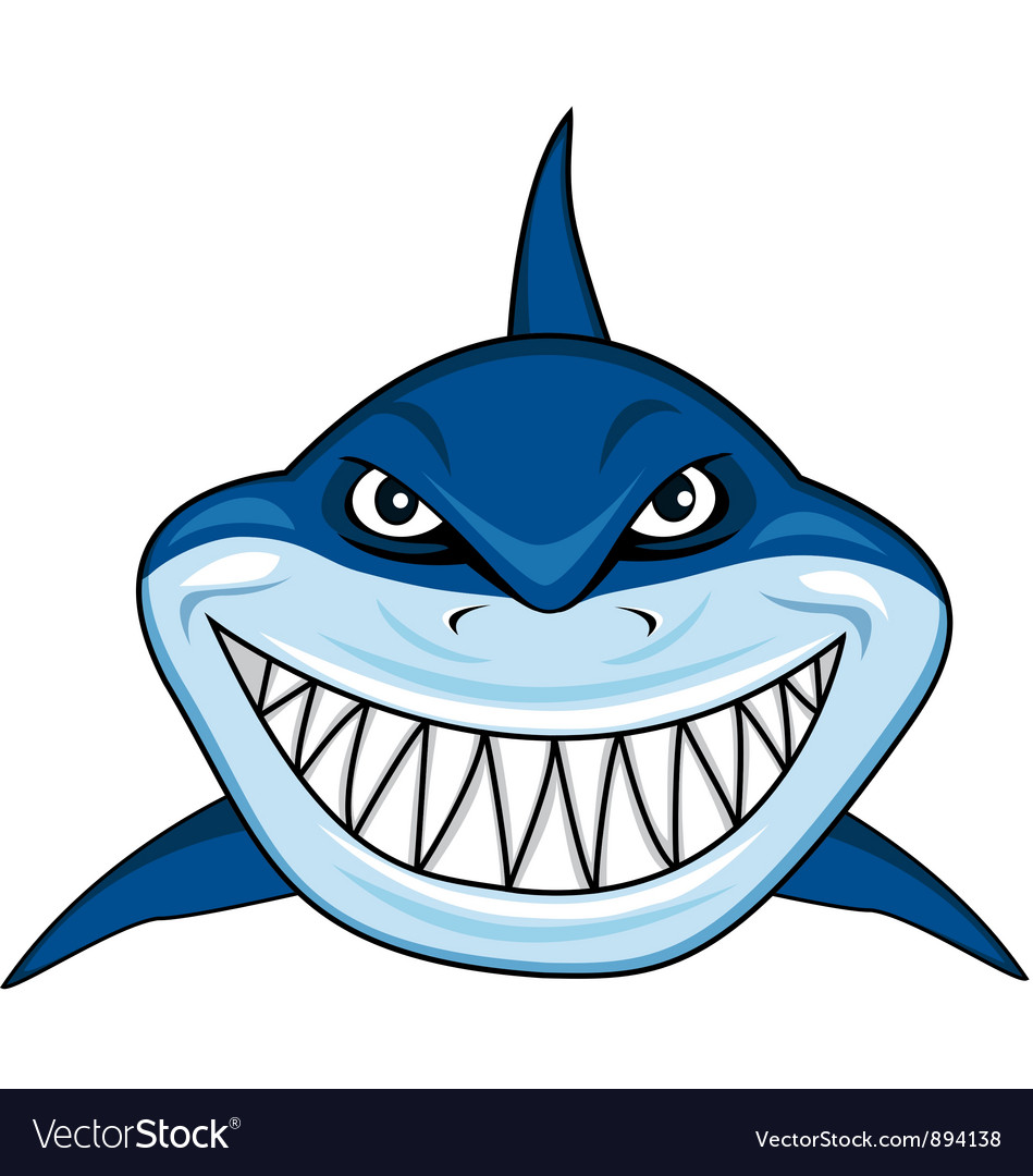 cartoon shark Smiling shark cartoon free vector image jpg