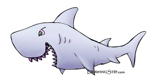 How to draw cartoon shark in 5 easy st jpg