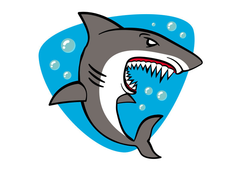 cartoon shark Cartoon free vector illustration jpg