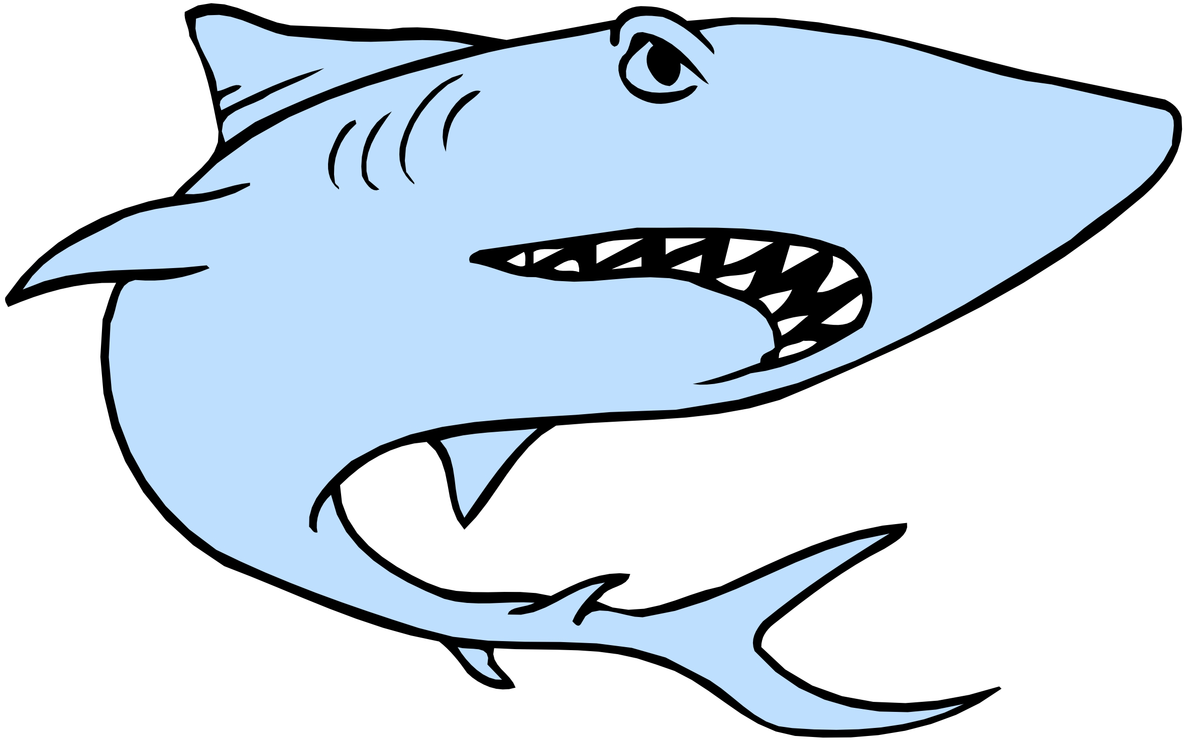 Shark clipart cartoon shark pencil and inlor jpg