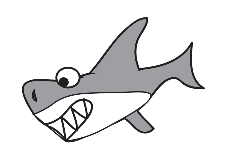 cartoon shark Cartoon great white shark free download clip art png