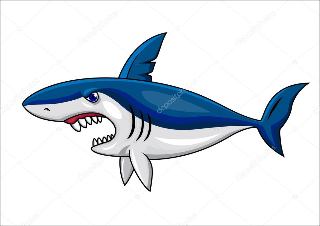 cartoon shark Angry shark cartoon stock vector idesign0 jpg