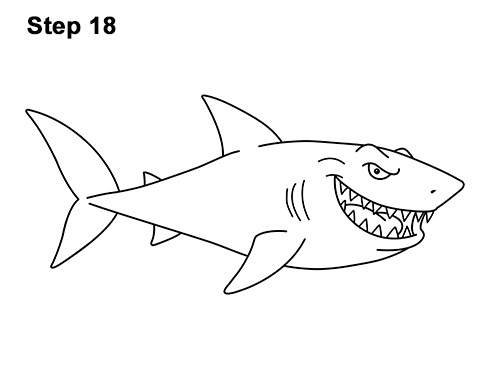 cartoon shark How to draw a shark cartoon jpg 3