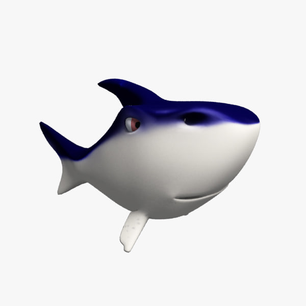 cartoon shark Model chubby shark cartoon jpg