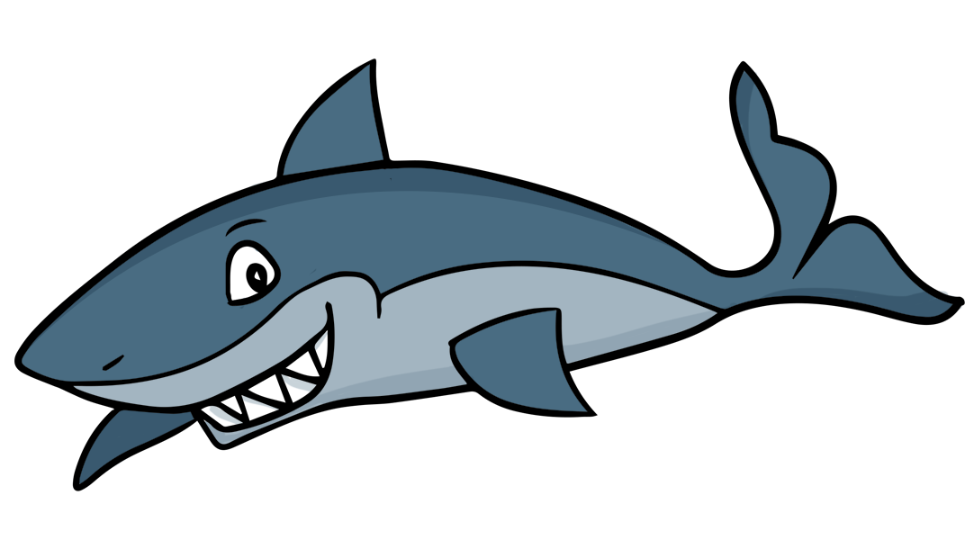 Cartoon shark free clipart jpg