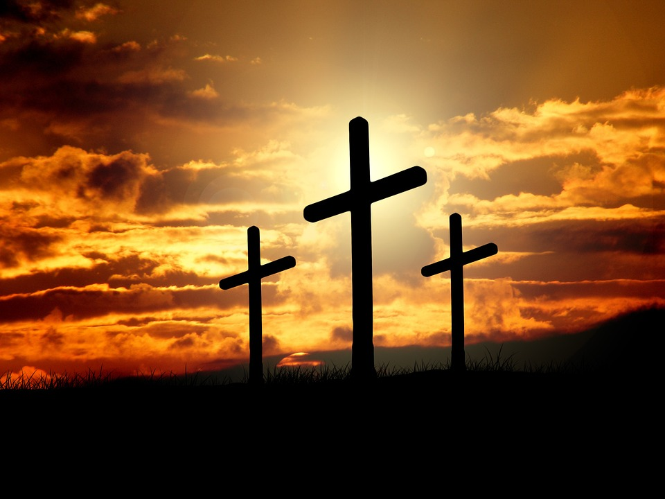 cross picture Free illustration cross sunset sunrise hill sky image jpg