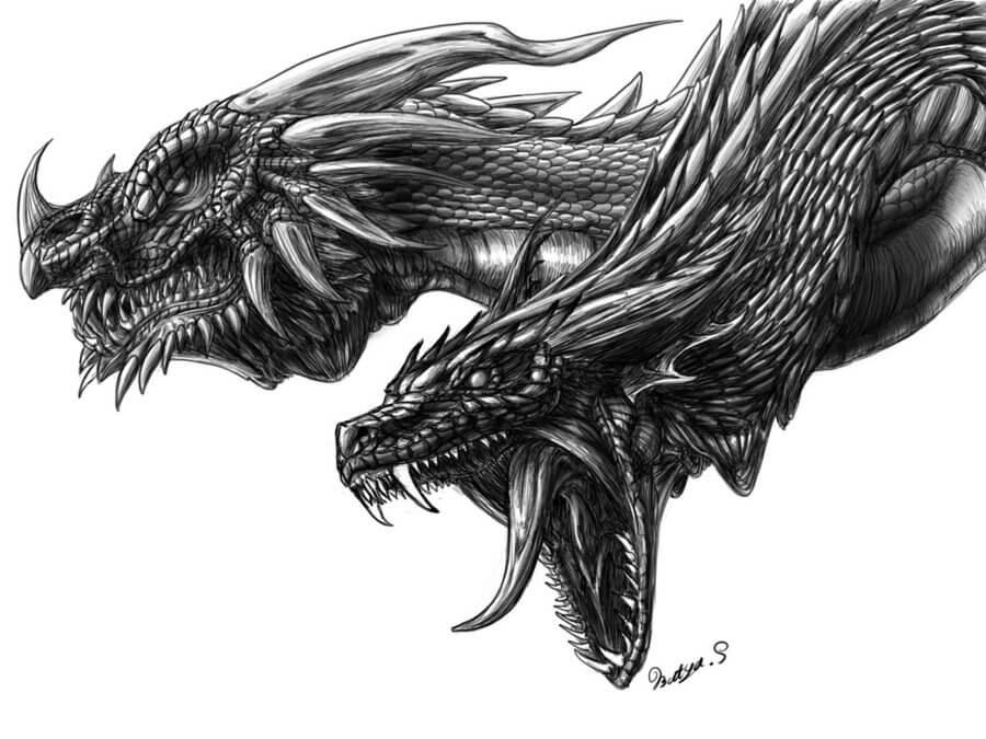 dragon drawing Awesome dragons drawings and picture art of the mythical creatures jpg