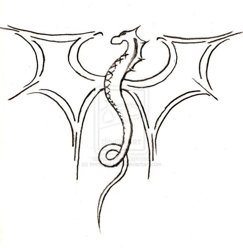 dragon drawing Drawing easy drawings and sketches dragon with by jpg