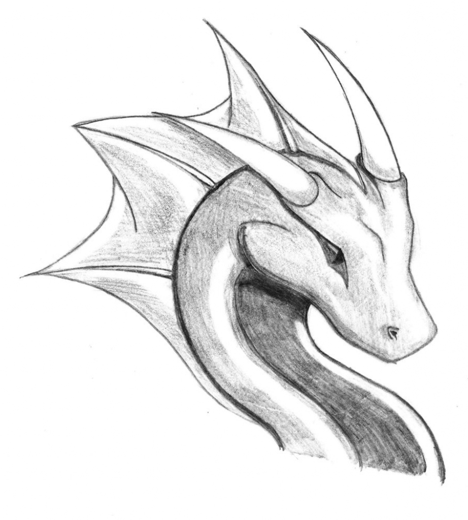 dragon drawing Easy to draw dragons jpg