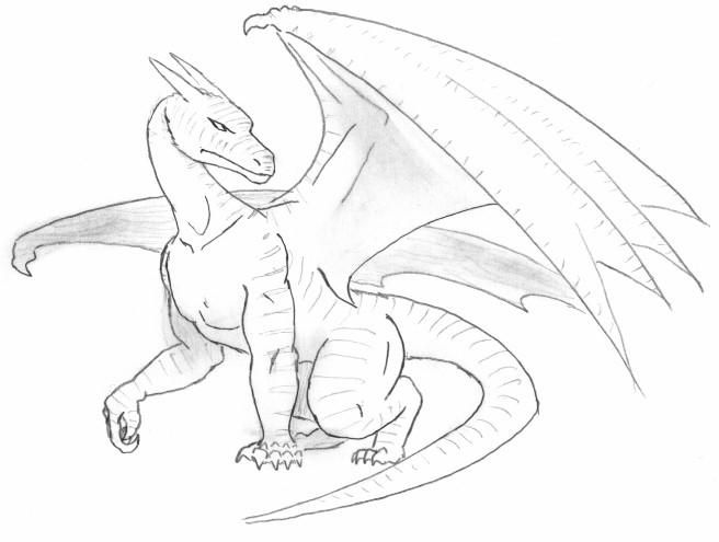 dragon drawing Drawn pencil dragon pencil and inlor drawn jpg