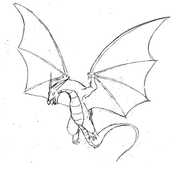 dragon drawing Drawn dragon easy draw pencil and inlor drawn jpg