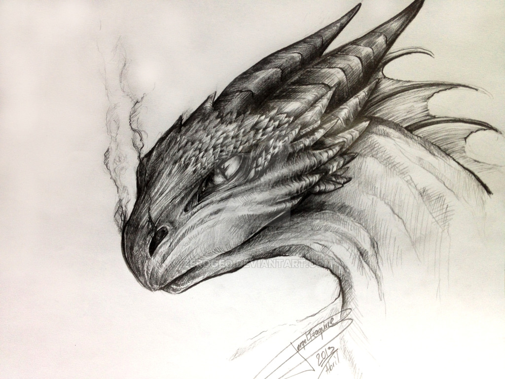 Dragon drawing by zerogeo on deviantart jpg