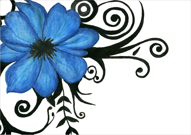 Flower drawings sketches design trends premium psd jpg