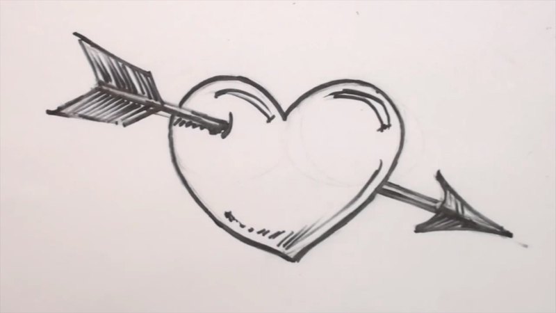 heart drawing How to draw and shade a 3d jpg