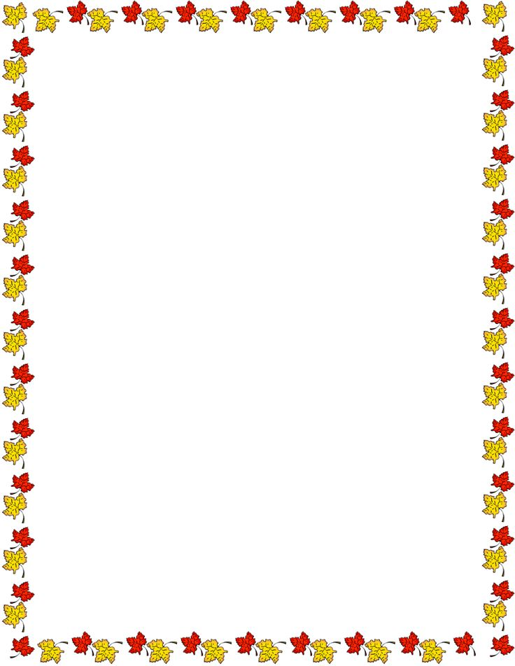 Thanksgiving clipart page border pencil and inlor jpg