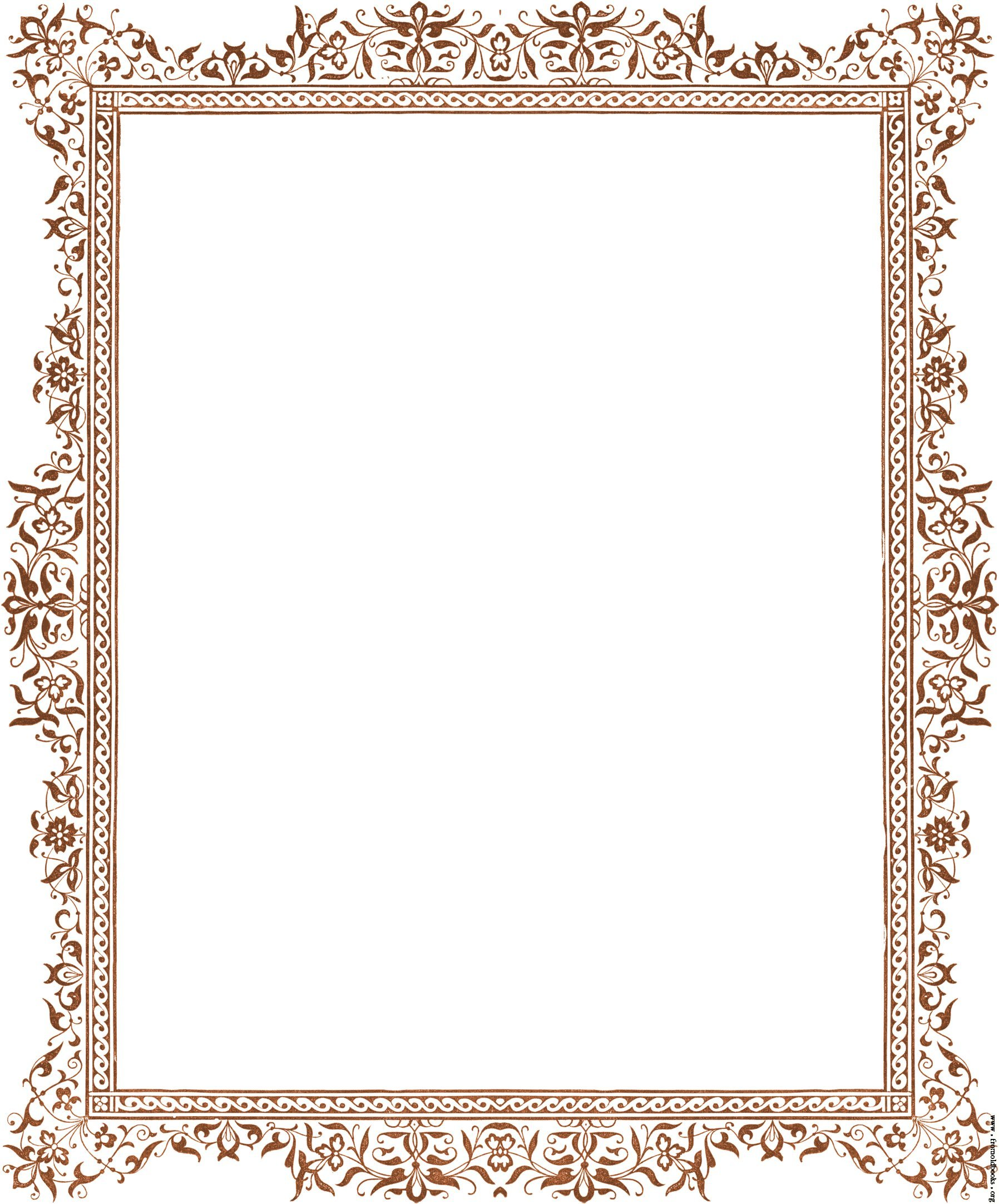 page border Decorative clip art victorian border antique brown jpg
