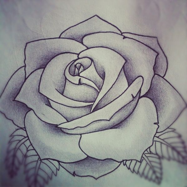 rose drawing Tatoo art rose rose tattoo design by alyx wilson society6 jpg