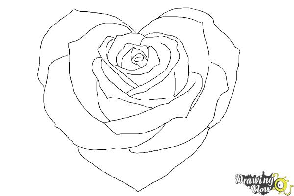 How to draw a heart rose drawingnow jpg