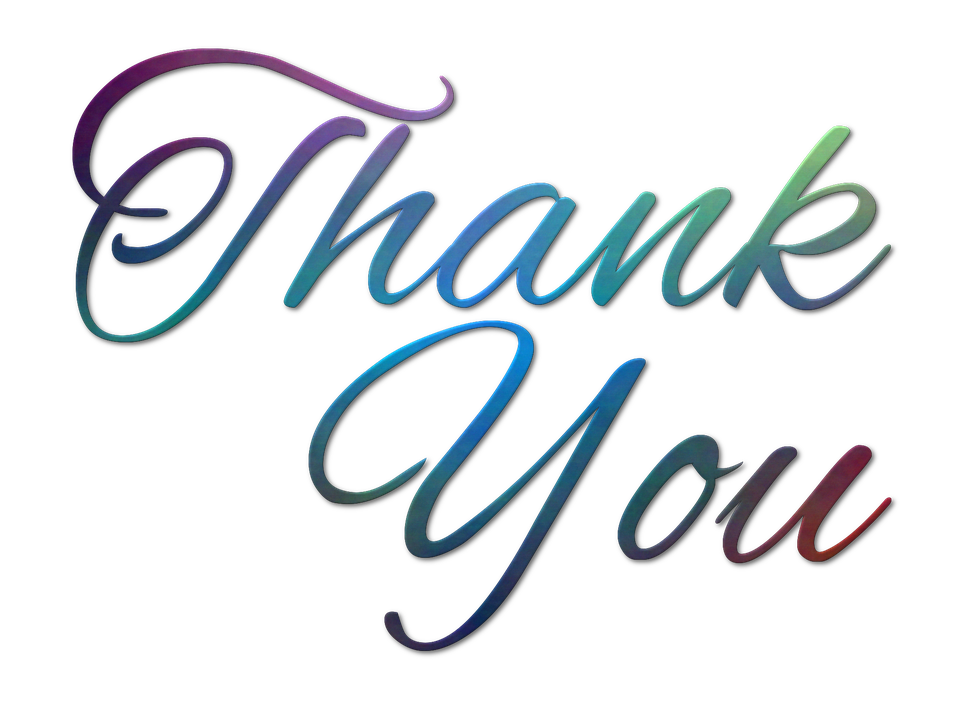 Free illustration thank you text message note image on png